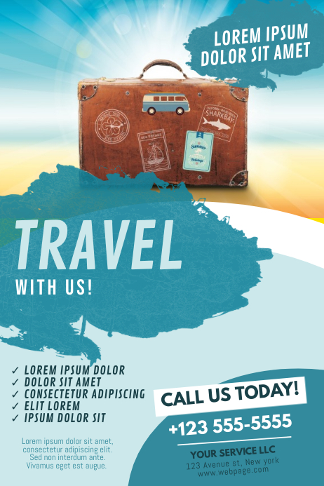 Travel Flyer Template Cartaz