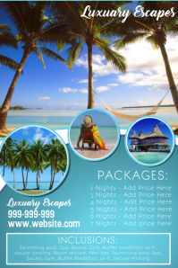 Travel Holiday Flyer Poster template