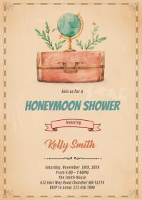 Travel honeymoon shower invitation