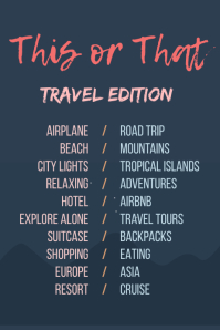 Travel Instagram story Checklist