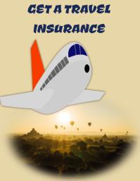 Travel insurance poster