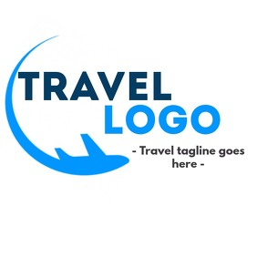 Travel logo icon with plane