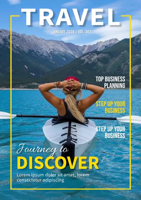 Travel Magazine Cover Design Template A4