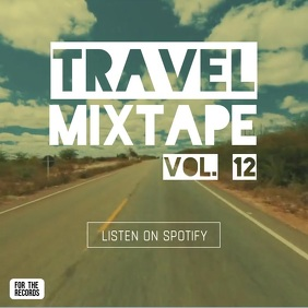 Travel Mixtape album cover video instagram ad template