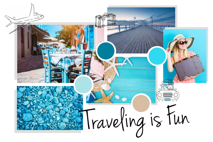 Travel Moodboard Poster template