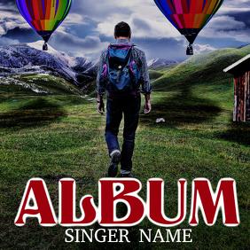 Travel Music Album Cover Template