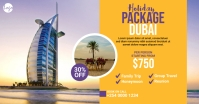 Travel Package Facebook Ad template