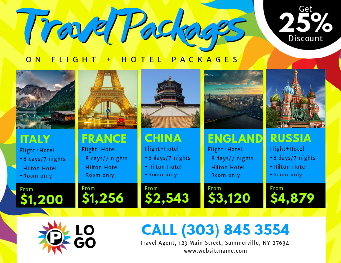 Travel Packages Flyer Template Postermywall