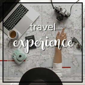 Travel Poster Square (1:1) template