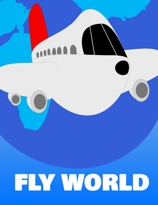 Travel Poster Fly world