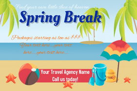 Travel Poster Flyer Spring Break Vacation Poster Template
