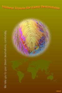 Exotic leaf - travel poster