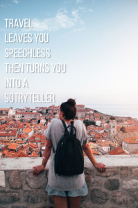 Travel quote Tumblr-Grafik template