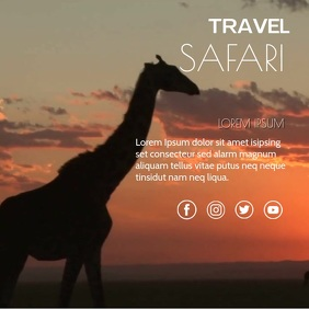TRAVEL SAFARI VIDEO TEMPLATE Carré (1:1)