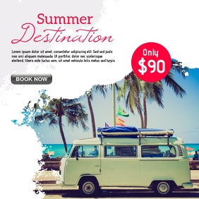 Travel social media feed post promotion desig template