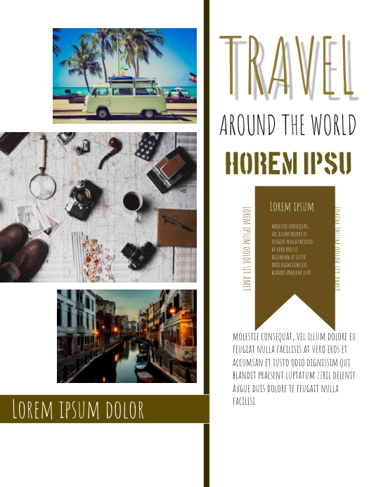 travel tamplet template postermywall