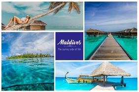 Travel to Maldives Collage