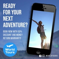 travel tour and adventure instagram ad video template