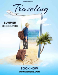 TRAVEL TOUR Flyer Template Volantino (US Letter)