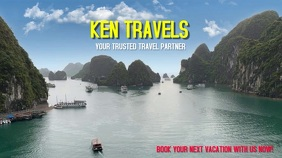 Travel Tour Video Poster Pantalla Digital (16:9) template