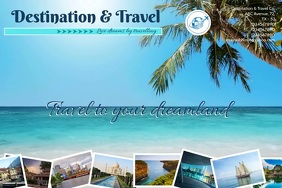 Travel Tourism Banner 4' × 6' template