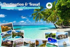 Travel tourism Cartel de 4 × 6 pulg. template