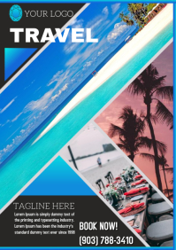 Travel trip vacations flyer template