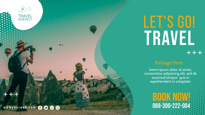 Travel Twitter Promotional Template