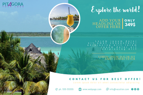 Travel Vacation Flyer Template