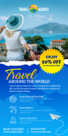 Travel Vacation Pull Up Banner template