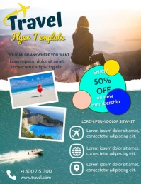 TRAVEL VIDEO AD Flyer (format US Letter) template