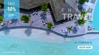 Travel Video Advertising Template 数字显示屏 (16:9)