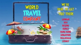 Travel video poster Digital Display (16:9) template