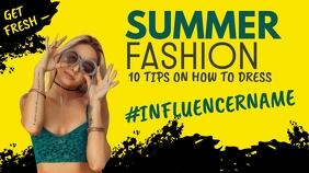 summer fashion youtube thumbnail design template YouTube-Miniaturansicht
