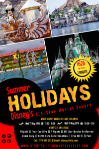 Customizable Design Templates For Summer Holidays PosterMyWall - Disney flyer template
