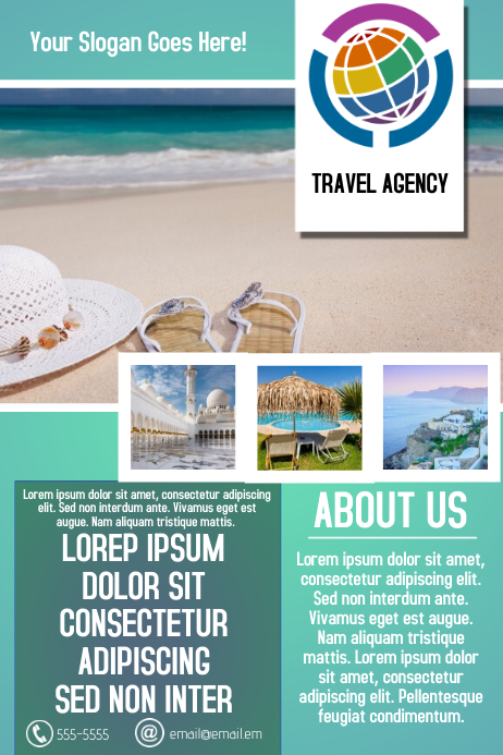 Traveling Agency Simple Flyer Template Postermywall