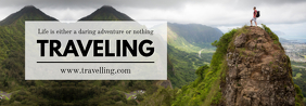 Traveling Tumblr Banner Design template