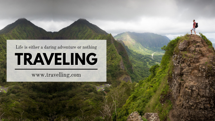 Traveling Youtube Banner Design template