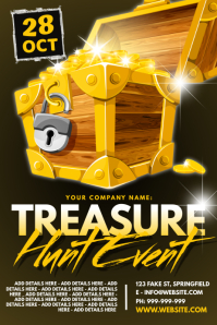 Treasure Hunt Event Poster template