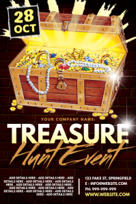 Treasure Hunt Event Poster Póster template
