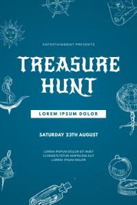Treasure Hunt Orientation Flyer Template