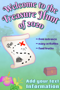 treasure hunt - treasure map & chest