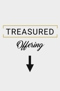 Treasured Offering Poster template