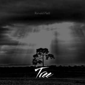 Tree Black & White DARK Cd Cover Template Обложка альбома