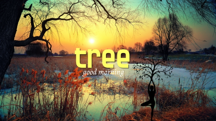 tree good morning YouTube Channel Cover Photo template