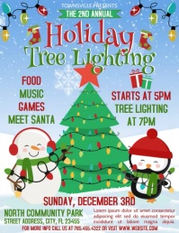 Tree Lighting Flyer (US Letter) template