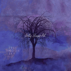 Tree Moon Sky Painting CD Cover
