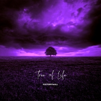 Tree of Life Purple Cd Cover Art 专辑封面 template