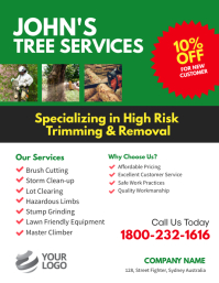 Tree Services Flyer Poster template