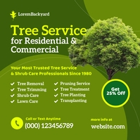 Tree Shrub Lawn Care Service Instagram Post template